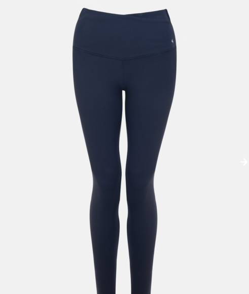 Classic High Waist Legging: Navy